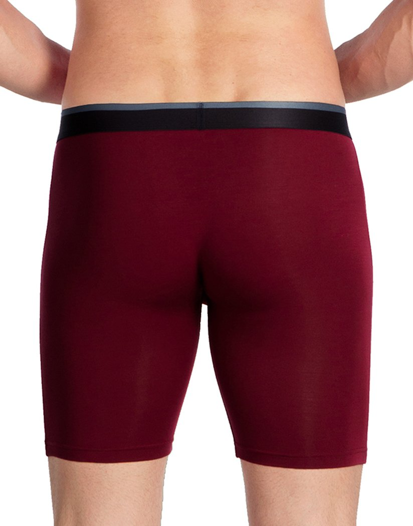 Maroon Back Obviously Men's PrimeMan Boxer Brief 9 Inch Leg A01