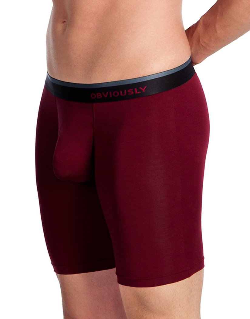 Maroon Side Obviously Men's PrimeMan Boxer Brief 9 Inch Leg A01