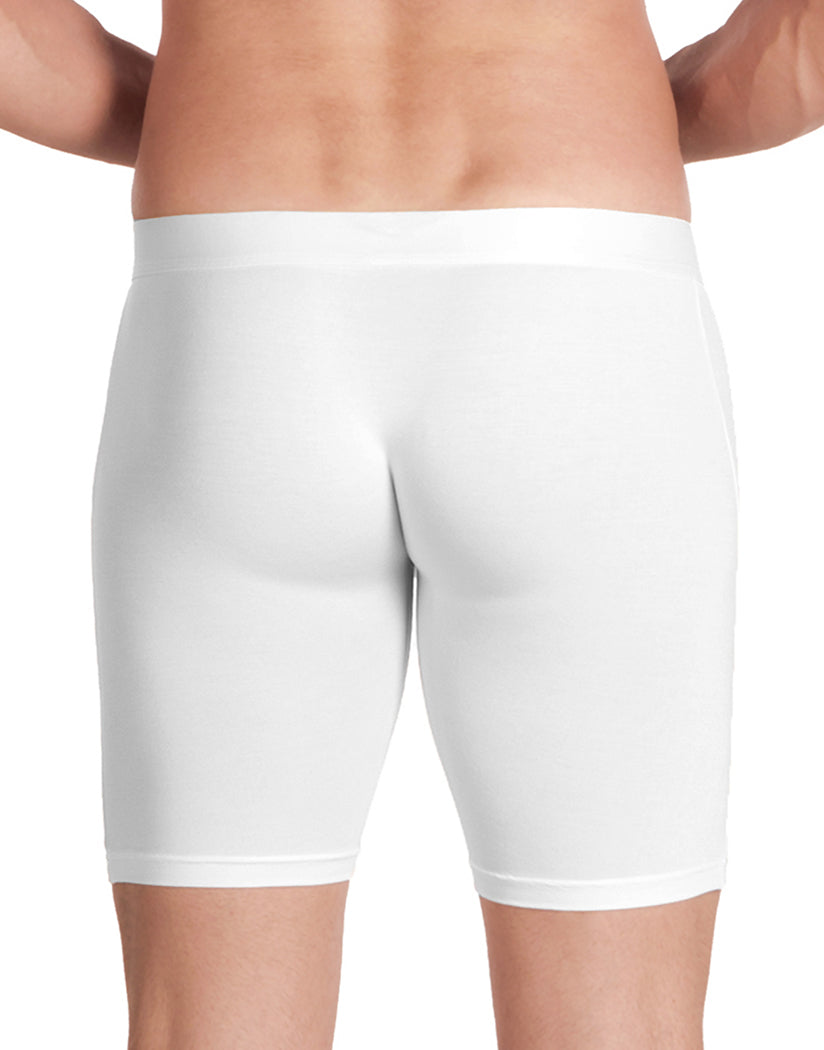 White Back Obviously Men's PrimeMan Long Boxer Brief