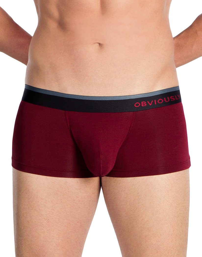 Maroon Front Obviously Men's PrimeMan Trunk