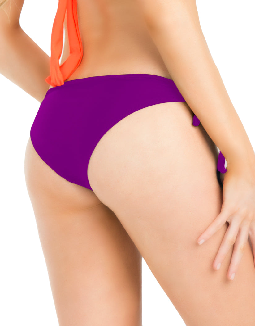Purple Back Oh La La Cheri Side Tie Bikini Bottom