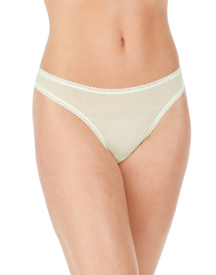 Rose Water/Salmon Rose/Lime Cream Front On Gossamer Mesh Hip-G 3 Pack Thong 3512P3
