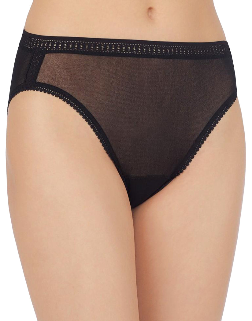 Black Front OnGossamer Mesh Hi Cut Brief 3 Pack 3012P3