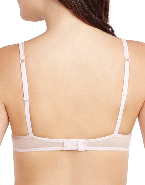 Blush Pink Back Unlined Cotton Mesh Bra