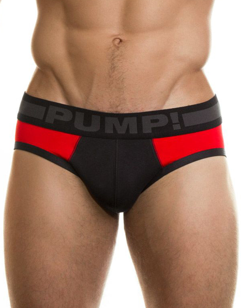Black/Red Front PUMP! Scorpion Brief