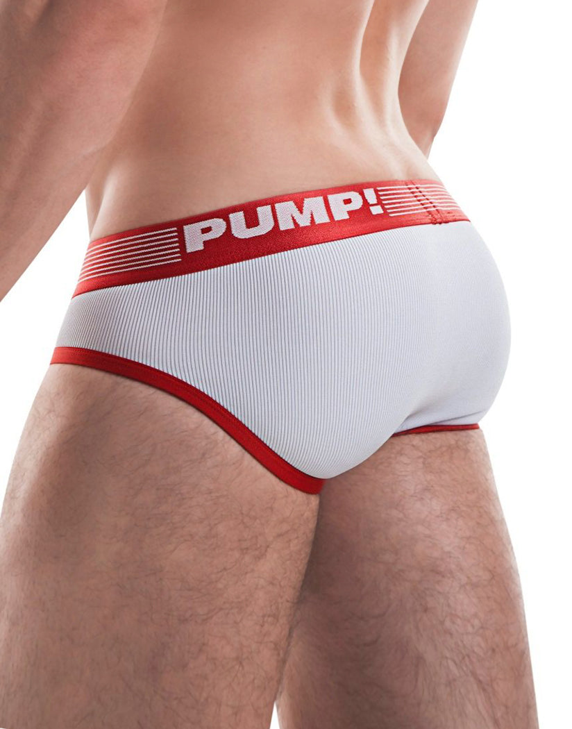Red Back PUMP! Ribbed Brief Red