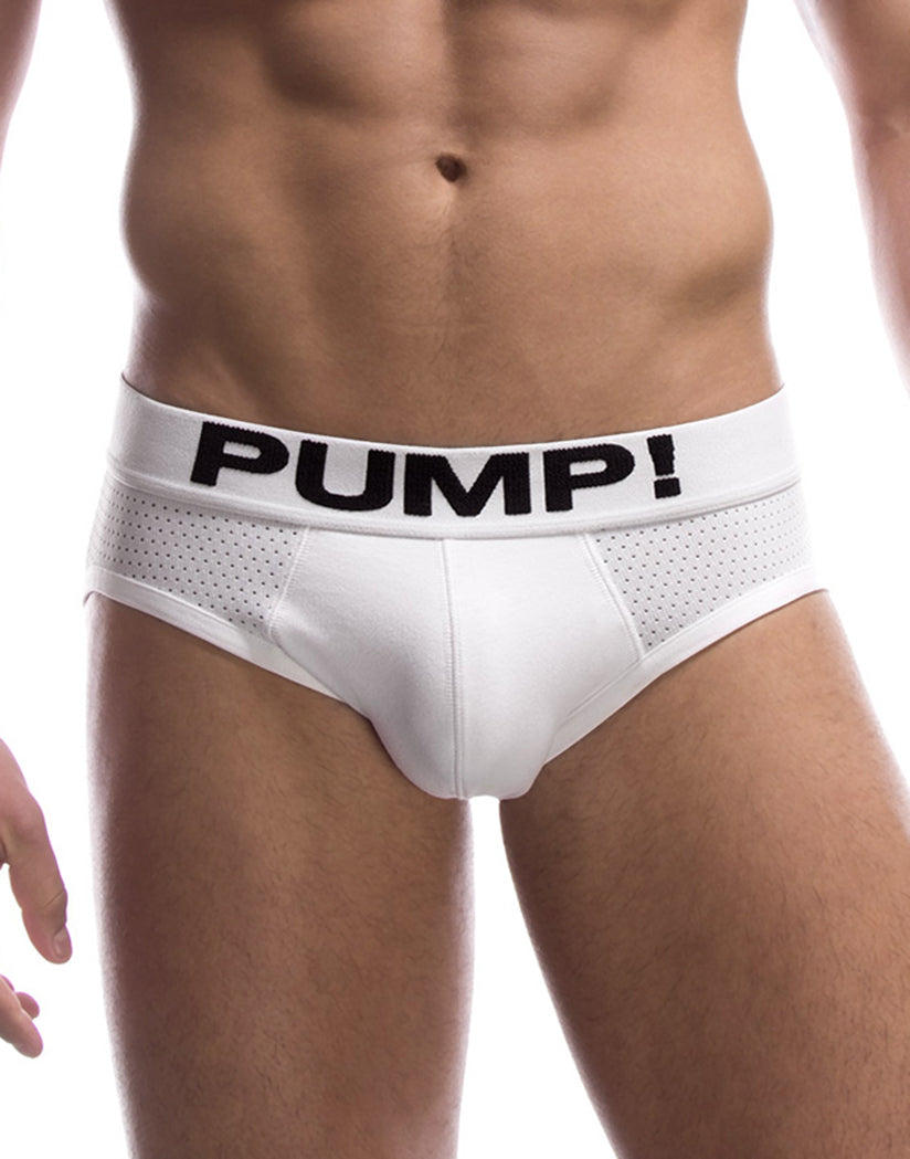 White Front PUMP! Classic White Briefs