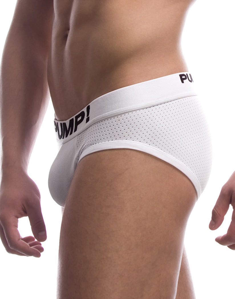 White Side PUMP! Classic White Briefs