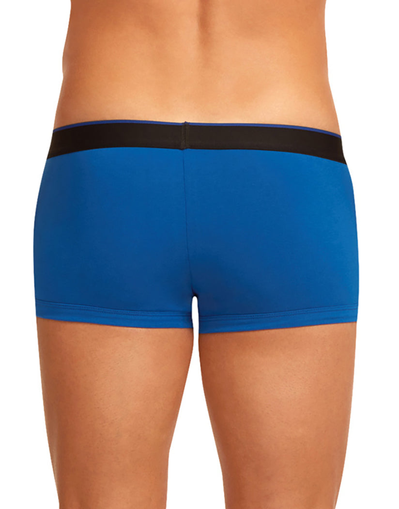 Blue/Black Back Papi 3-Pack Cotton Stretch Brazilian Trunks