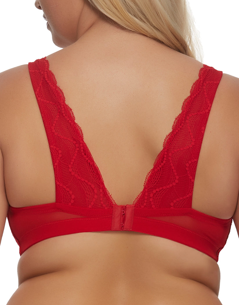 Tango Red Back Paramour Bette Plunge Lace Bralette 145046