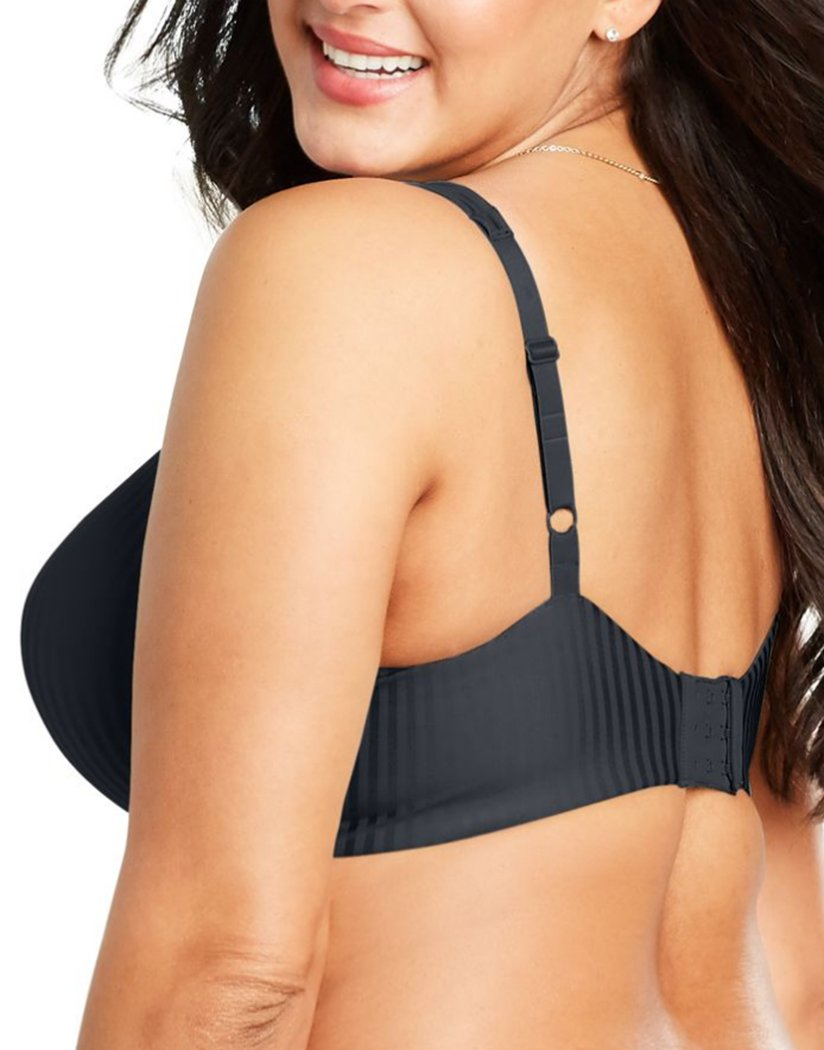 Black Stripe Back Playtex Secrets Perfectly Smooth Underwire Bra 4747
