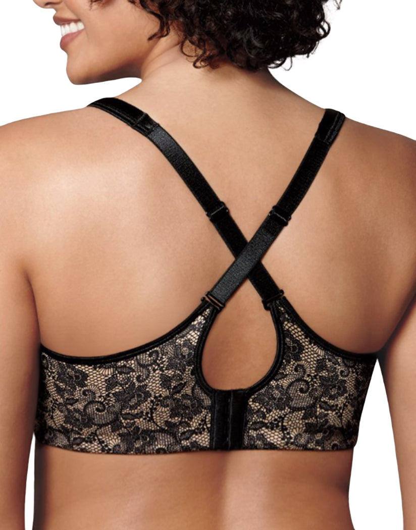 Black/Nude Lace Print Back Love My Curves Incredibly Smooth & Concealing Underwire Bra