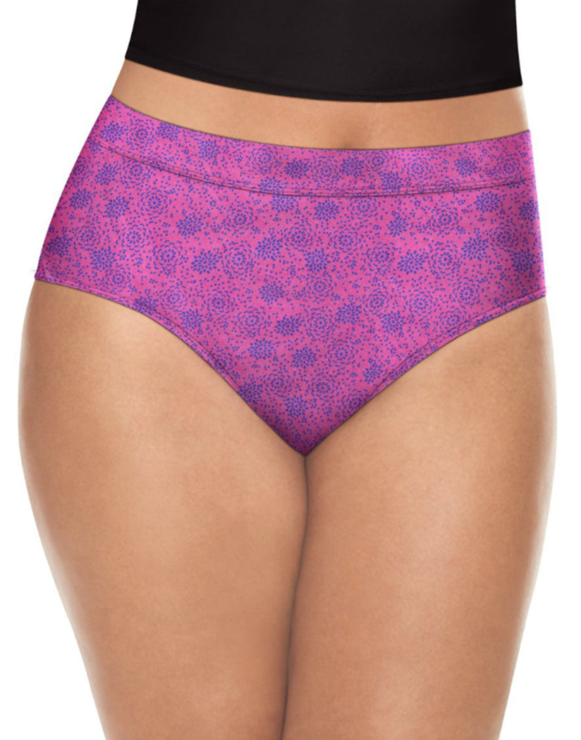 Waterlilly Pink/Showtime Fucshia Heather/Lilac Blossom/ Pink Print Front Playtex Ultra Soft Briefs 4-Pack PLCSBF