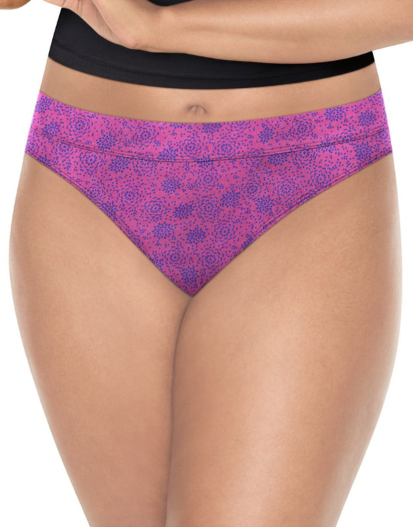 Waterlilly Pink/ Showtime Fucshia Heather/ Lilac Blossom/ Pink Print Front Playtex Ultra Soft Bikinis 4-Pack PLCSBK