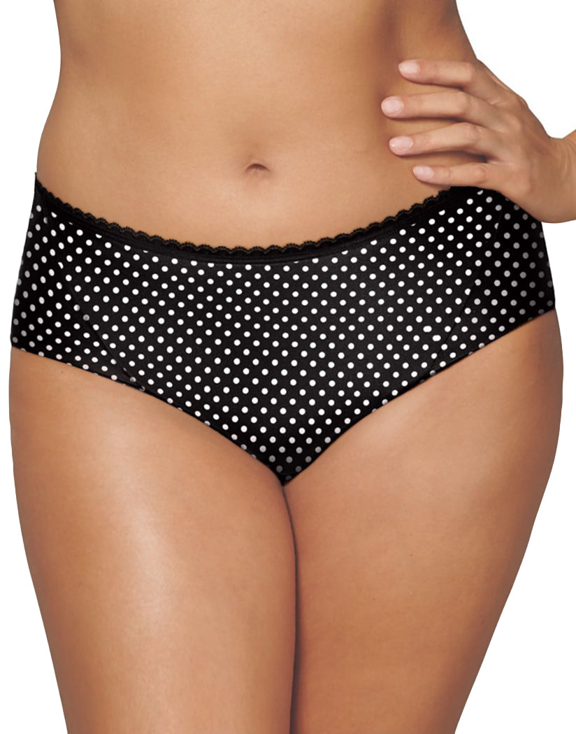 Black Whisper Dot Front Playtex Incredibly Smooth Cheeky Hipster