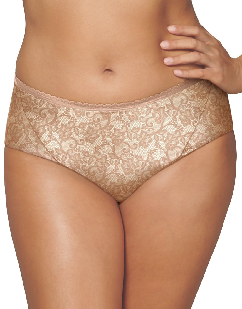 Light Beige Nude Print Front Playtex Incredibly Smooth Cheeky Hipster