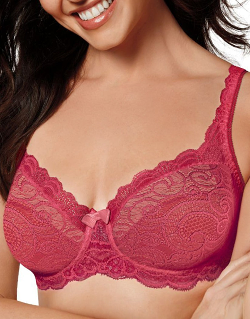 Sparkling Red Front Playtex Love My Curves Beautiful Lift Unlined Underwire Bra