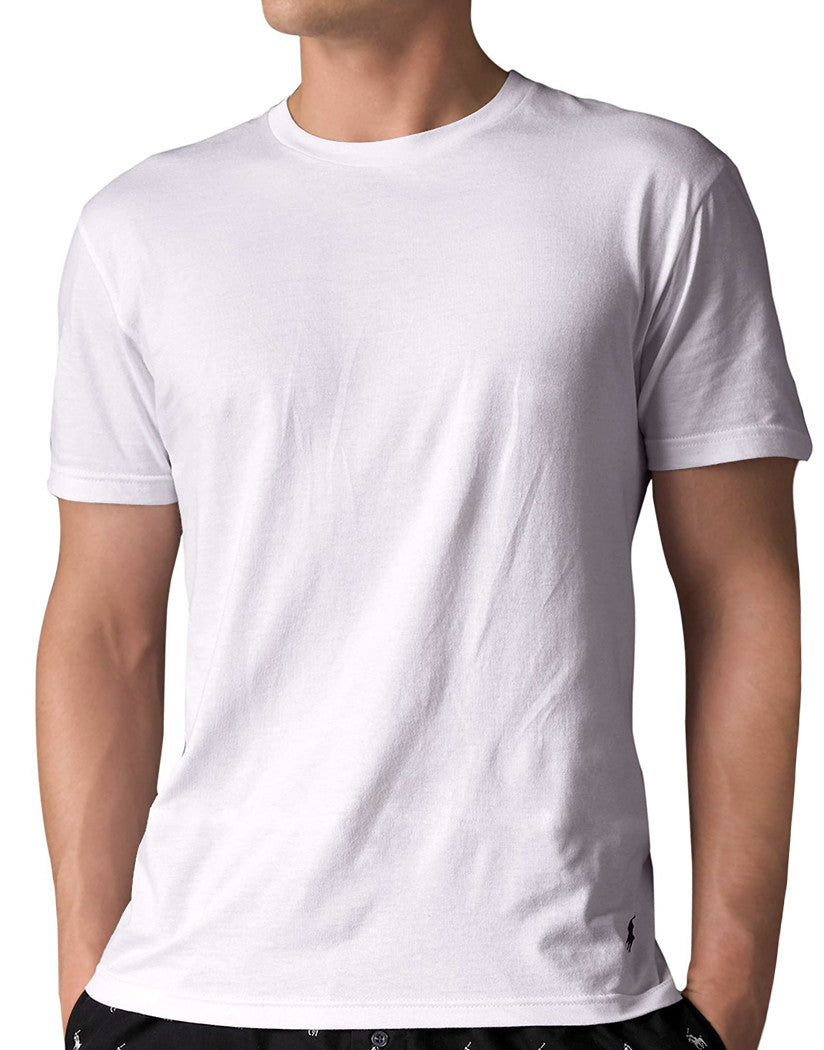 White Front Polo Ralph Lauren 5-Pack Cotton Crew Neck T-Shirts