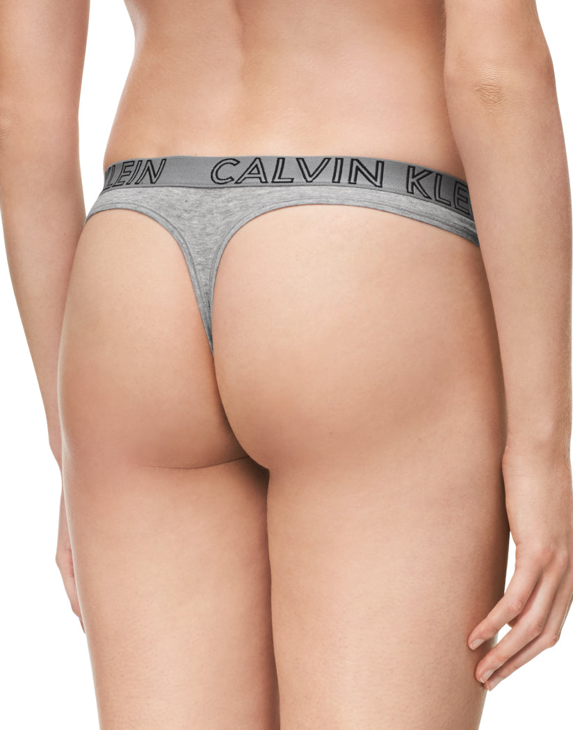 Grey Heather Back Calvin Klein Women Ultimate Cotton Thong QD3636