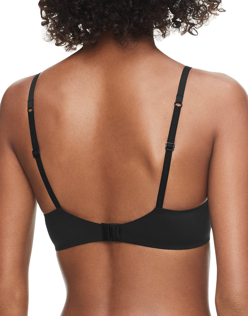 Black Back Calvin Klein Women Perfectly Fit Memory Touch Plunge Push-Up Bra QF1120