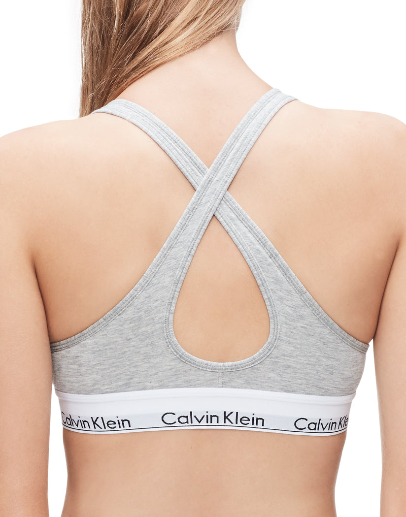 Heather Grey Back Calvin Klein Women Modern Cotton Stretch Lightly Lined Racerback Bralette QF1654