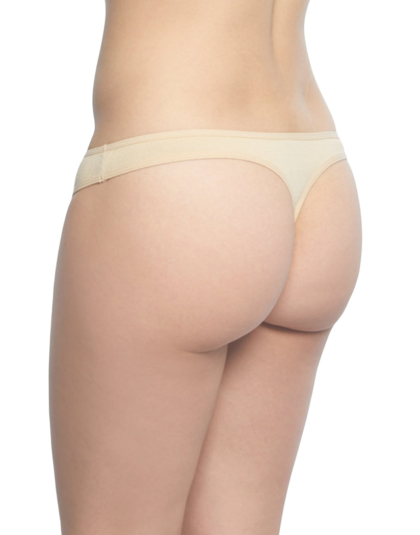 Beige Back Rene Rofe Cotton Spandex Thong 12206