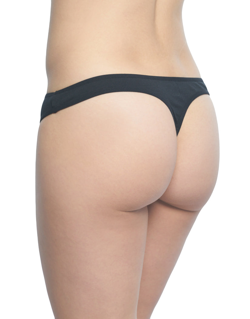 Black Back Rene Rofe Cotton Spandex Thong 12206