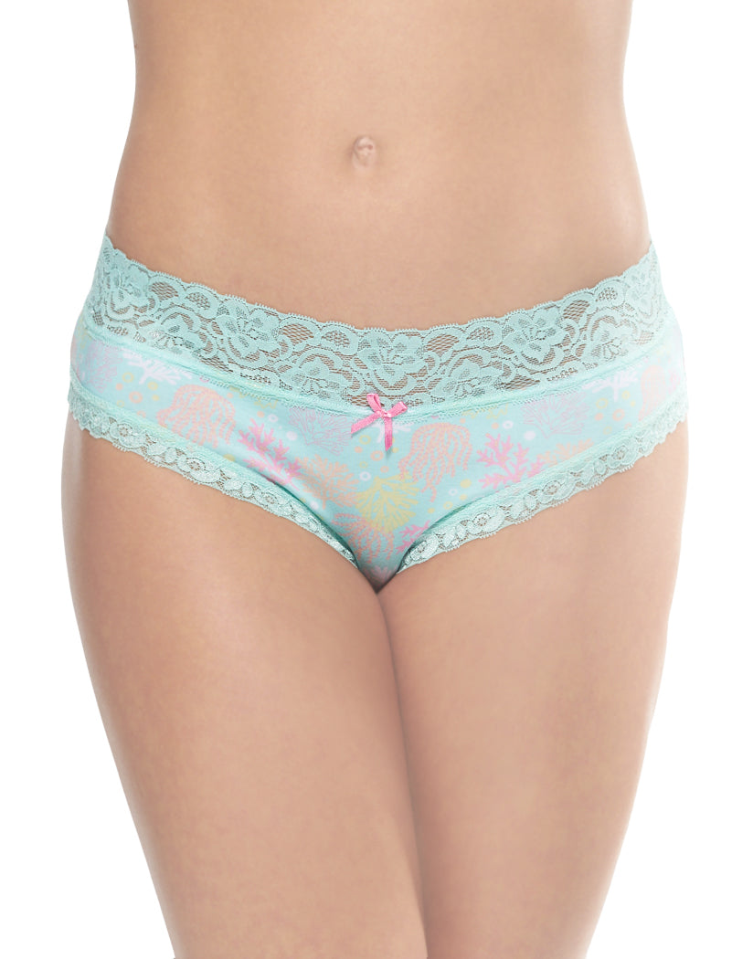 Ocean Coral Front International Intimates Laced So Sweet Hipster 156659