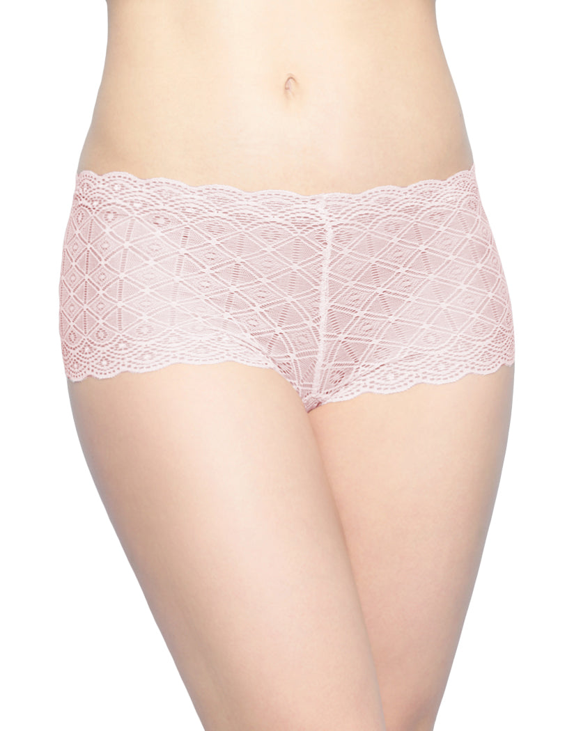 Dolce Peach/Half Moon/Black Front Rene Rofe 3 Pack Lace Boyshort Panty