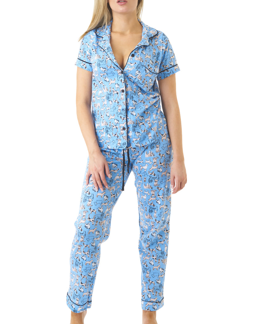 Blue Front Pillow Talk by Rene Rofe Doggy Playful PJ Set