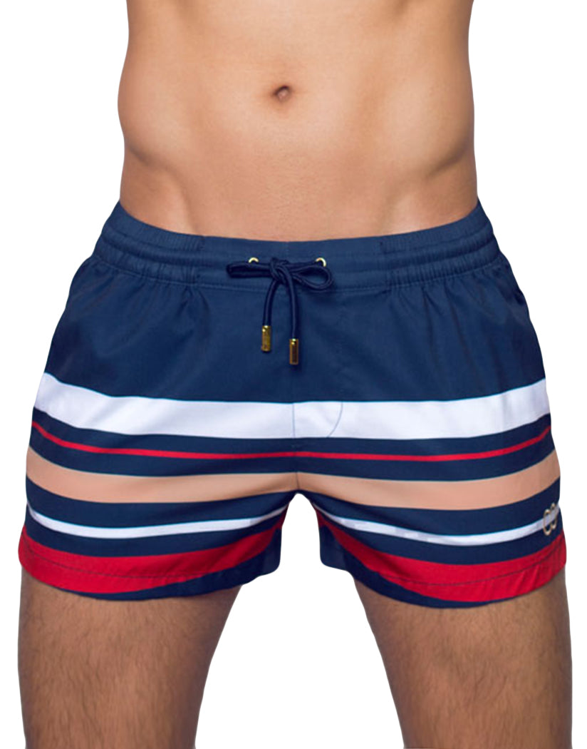 striped swim shorts for men