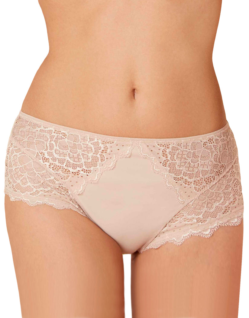 Peau Rose Front Simone Perele Caresse High Waist Brief 12A770