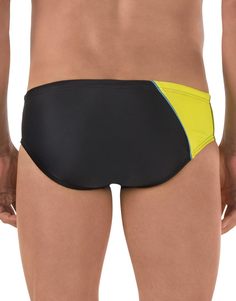 Black/Gold Back Speedo Revolve Splice Brief Black/Gold