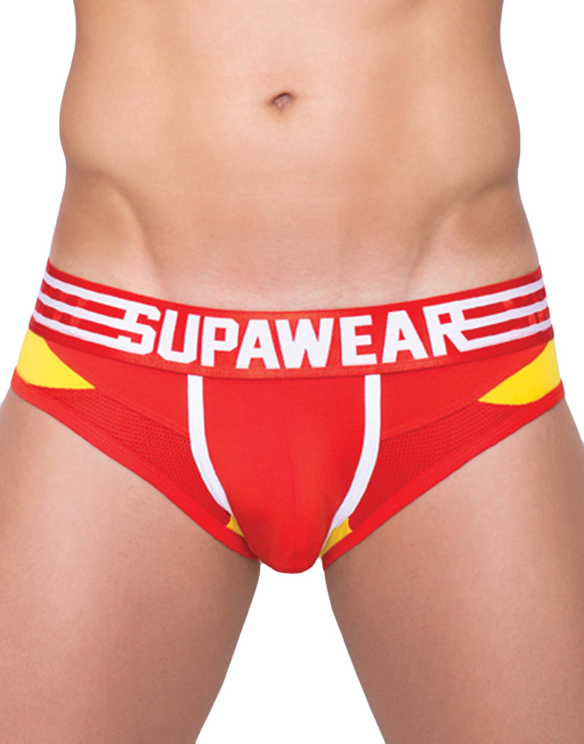Reactive Red Front Supawear Rocket Brief
