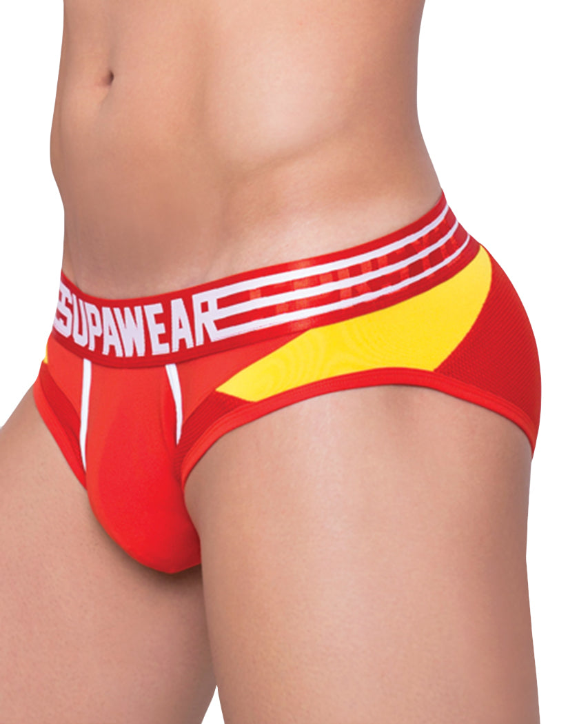 Reactive Red Side Supawear Rocket Brief