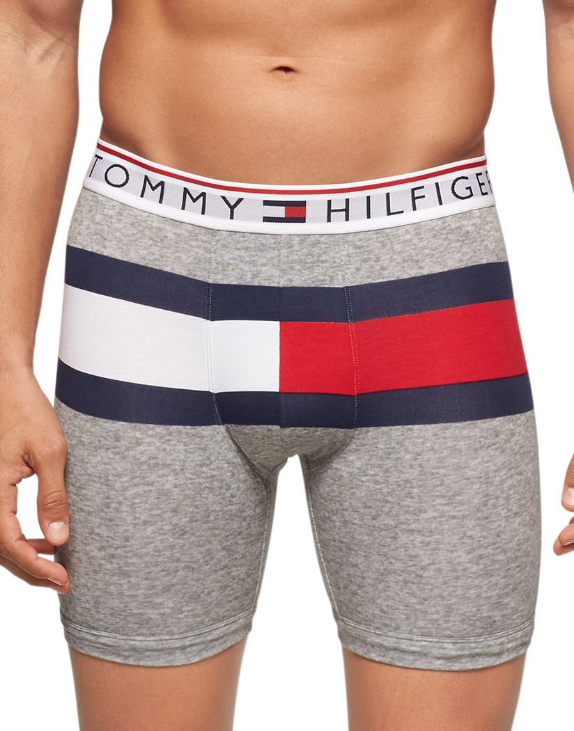 Grey Heather Front Tommy Hilfiger Modern Boxer