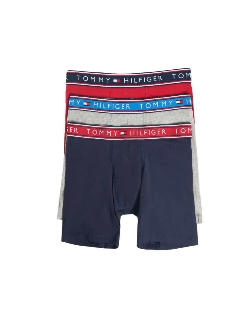 Evening Blue Front Tommy Hilfiger Cotton Stretch Boxer Brief 3 Pack 09T3699