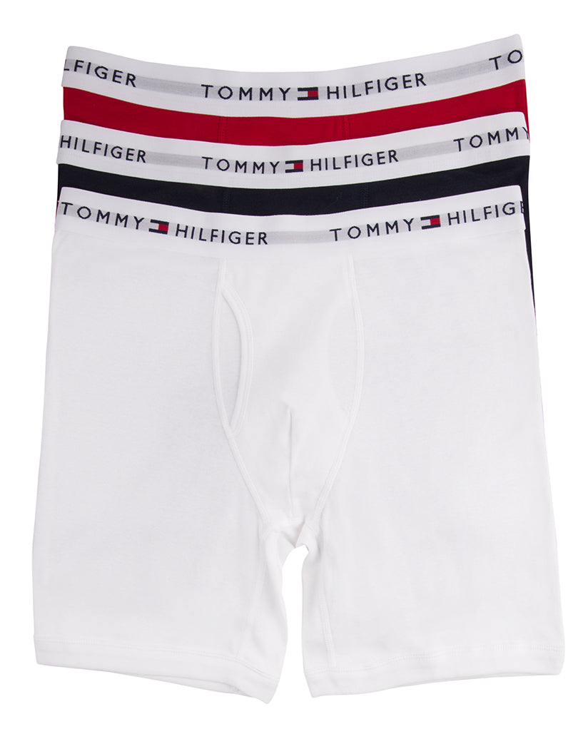 Red/Navy/White Front 3-Pack Classic Boxer Briefs