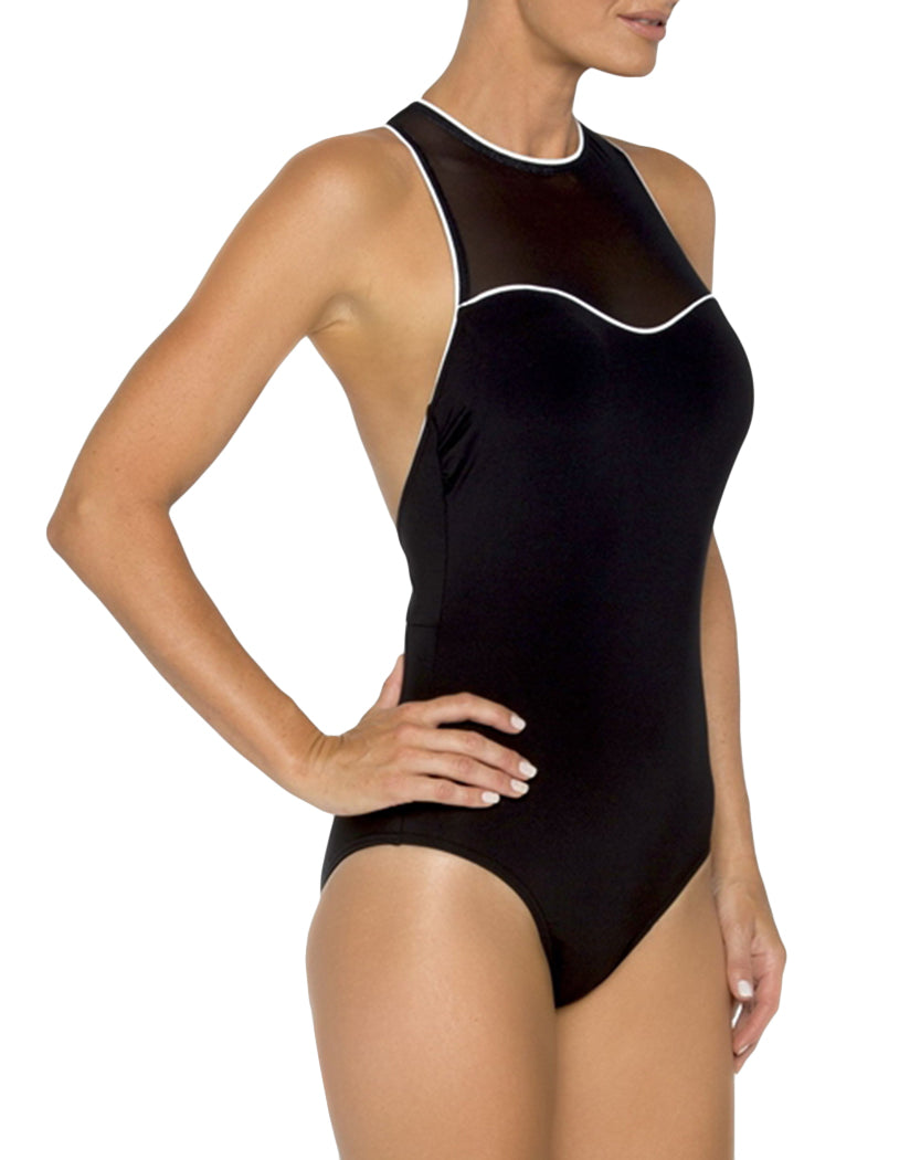 Black and White Side TOGS Mason Dixon Racerback Mesh One Piece 1732432