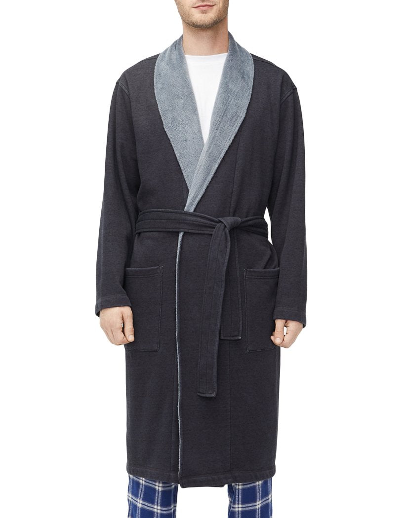 Black Heather Front UGG Robinson Robe Black Heather 1096932