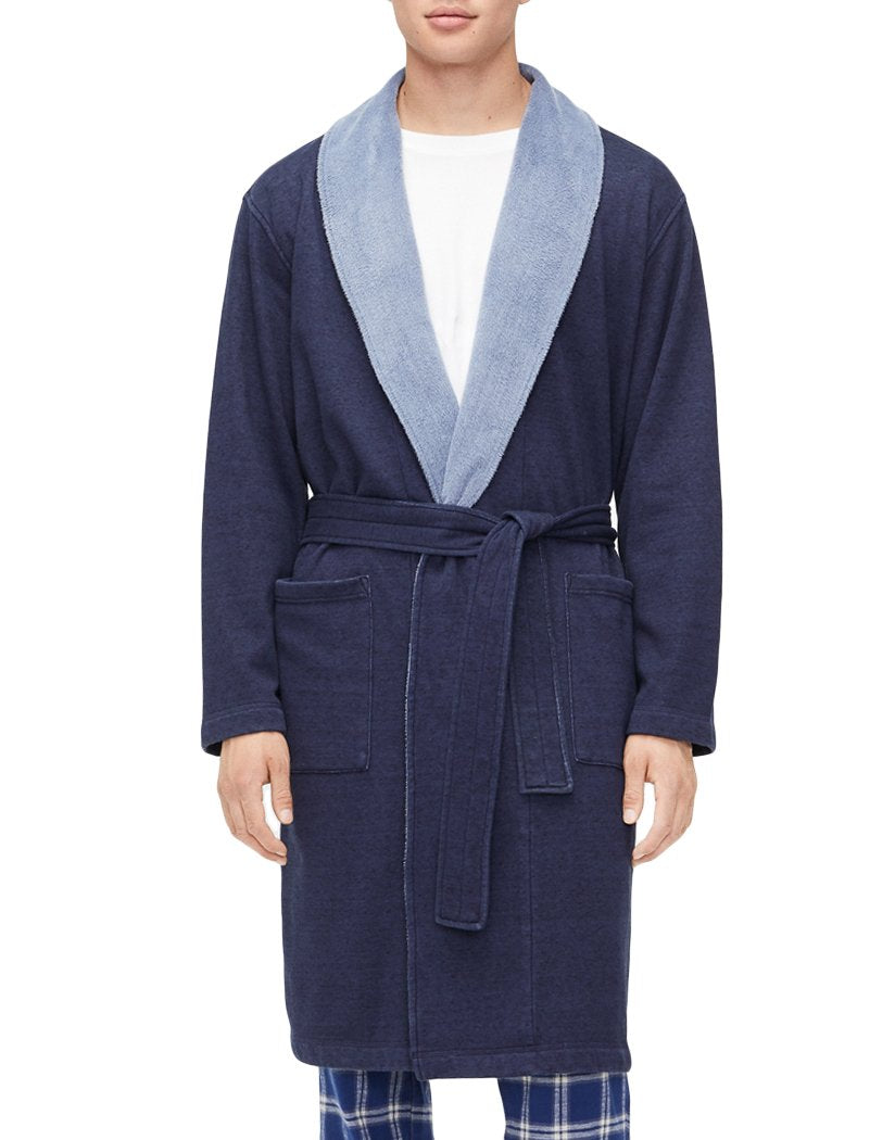 Navy Heather Front UGG Robinson Robe Navy Heather 1096932