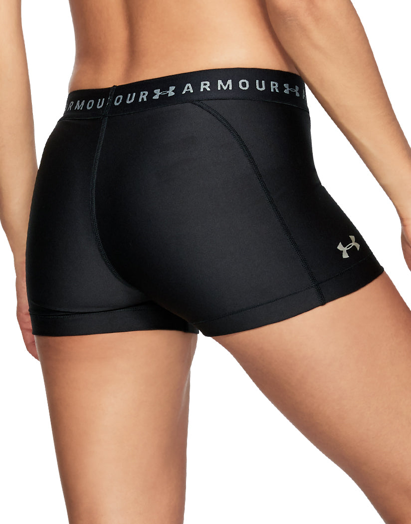 Black-Black-Metallic Silver Back Under Armour Women HeatGear Armour Shorty 1309618