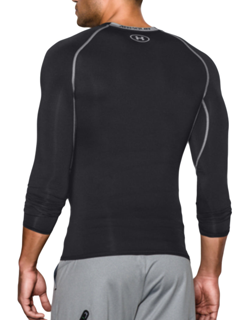 Black/Steal Back Under Armour HeatGear Armour Long Sleeve Compression Tank 1257471
