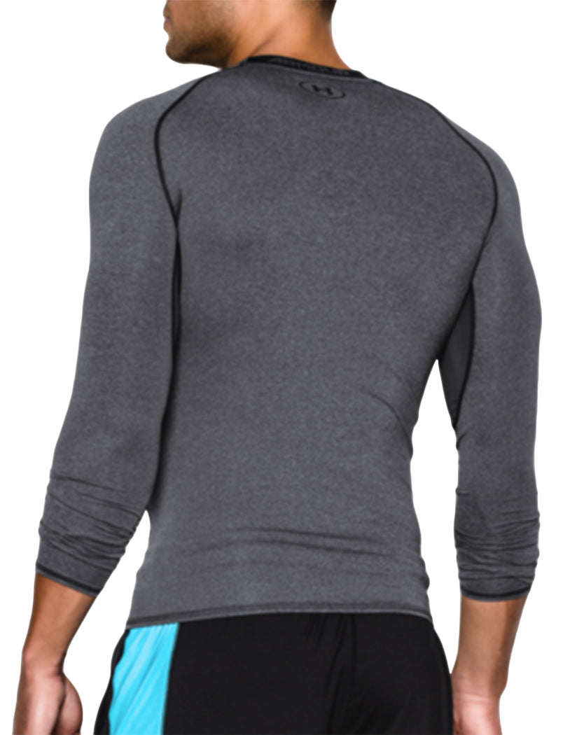 Carbon Heather/Black Back Under Armour HeatGear Armour Long Sleeve Compression Tank 1257471