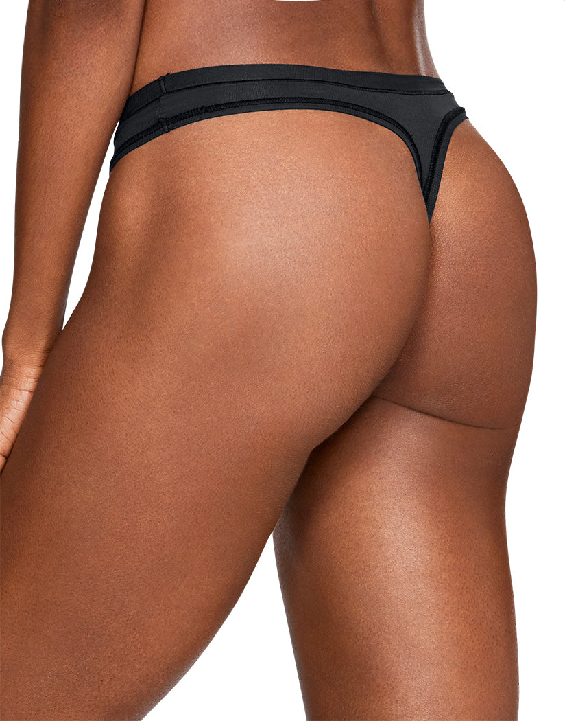 Black-White Back Under Armour Women Pure Stretch Sheer Thong