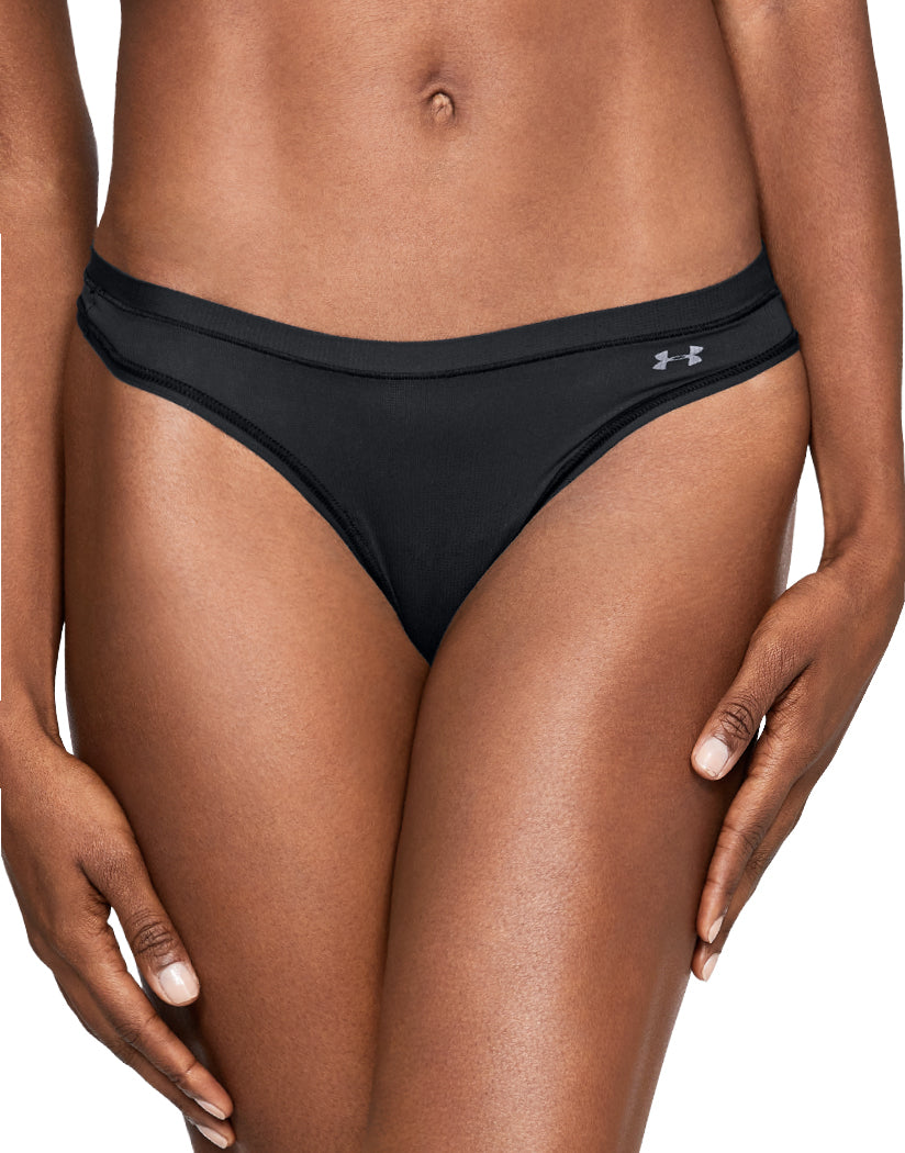 Black-White Front Under Armour Women Pure Stretch Sheer Thong