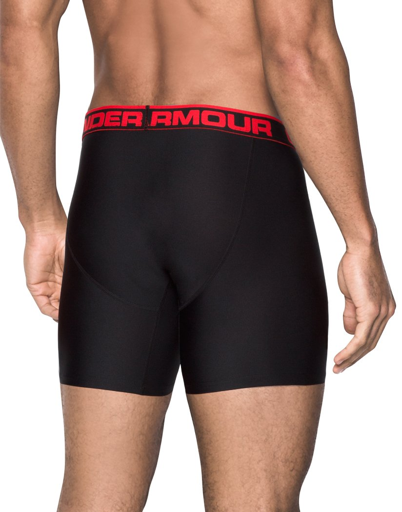 Black/Black Back Under Armour Original Series 6 Boxerjock 2-Pack
