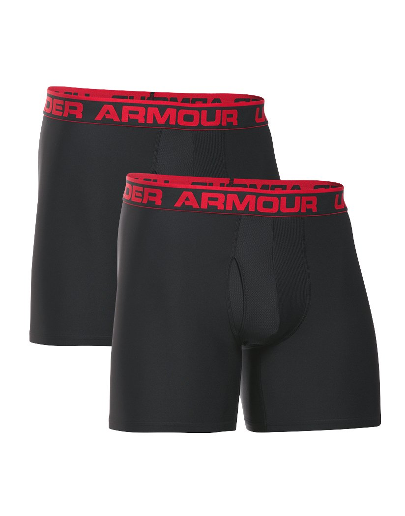 Black/Black Front Under Armour Original Series 6 Boxerjock 2-Pack