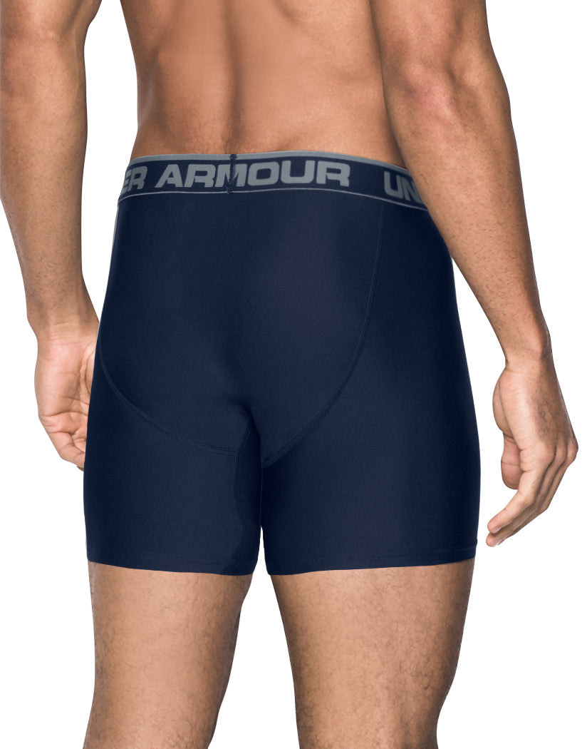 Midnight Navy/Artillery Green Back Under Armour Original Series 6 Boxerjock 2-Pack