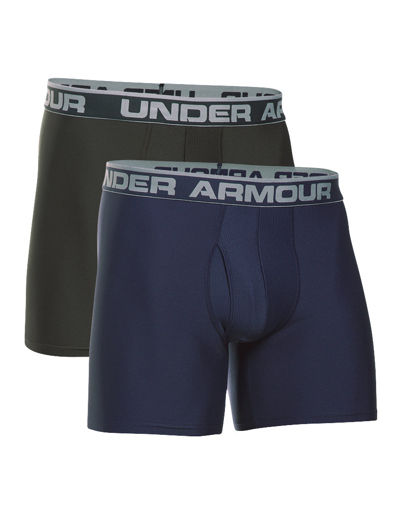Midnight Navy/Artillery Green Front Under Armour Original Series 6 Boxerjock 2-Pack